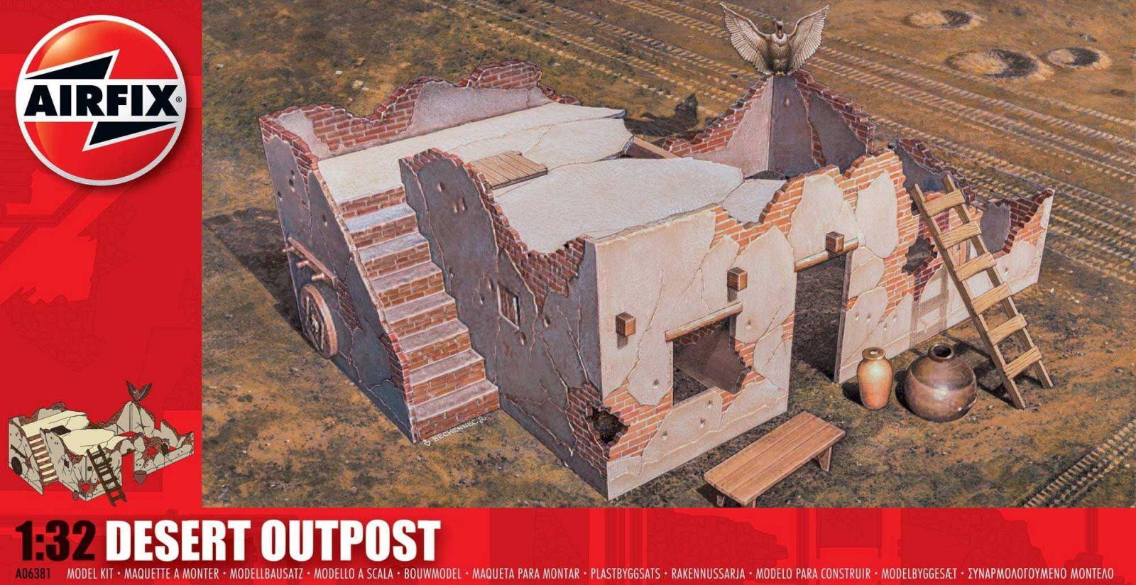 Classic Kit diorama A06381 - Desert Outpost (1:32) Plastikové modely