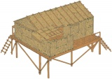 Classic Kit diorama A06382 - Bamboo House (1:32) Plastikové modely