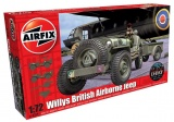 Classic Kit military A02339 - Willys Jeep, Trailer & 6PDR Gun (1:72) Plastikové modely