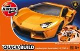 Quick Build auto J6007 - Lamborghini Aventador - oranžová