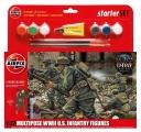 Starter Set figurky A55212 - WWII U.S. Infantry Multipose (1:32)