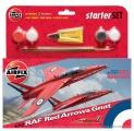 Starter Set letadlo A55105 - Red Arrows Gnat (1:72)