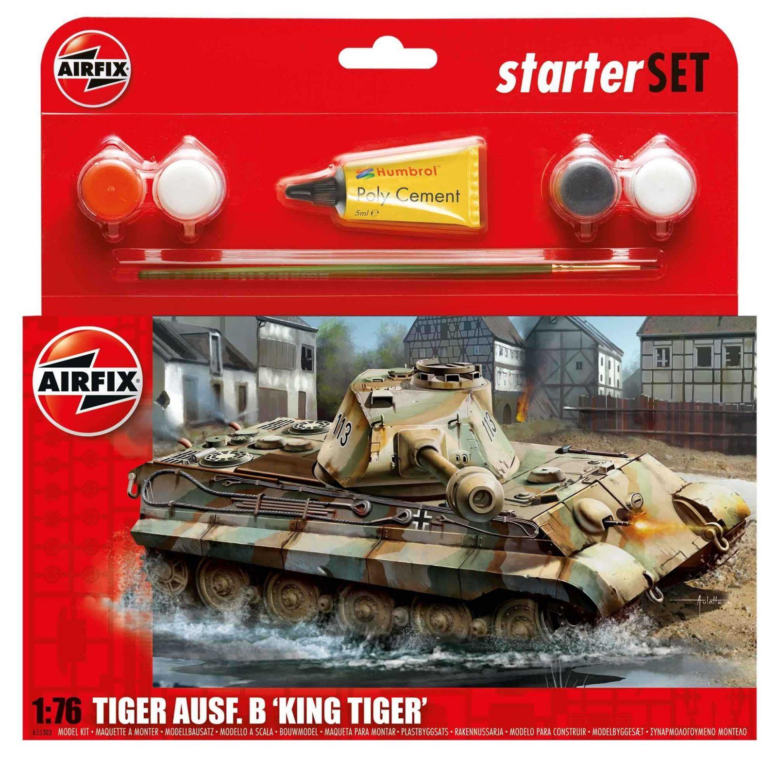 Starter Set tank A55303 - King Tiger Tank (1:76) Plastikové modely