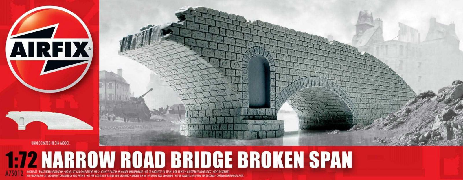 Classic Kit budova A75012 - Narrow Road Bridge Broken Span (1:72) Plastikové modely