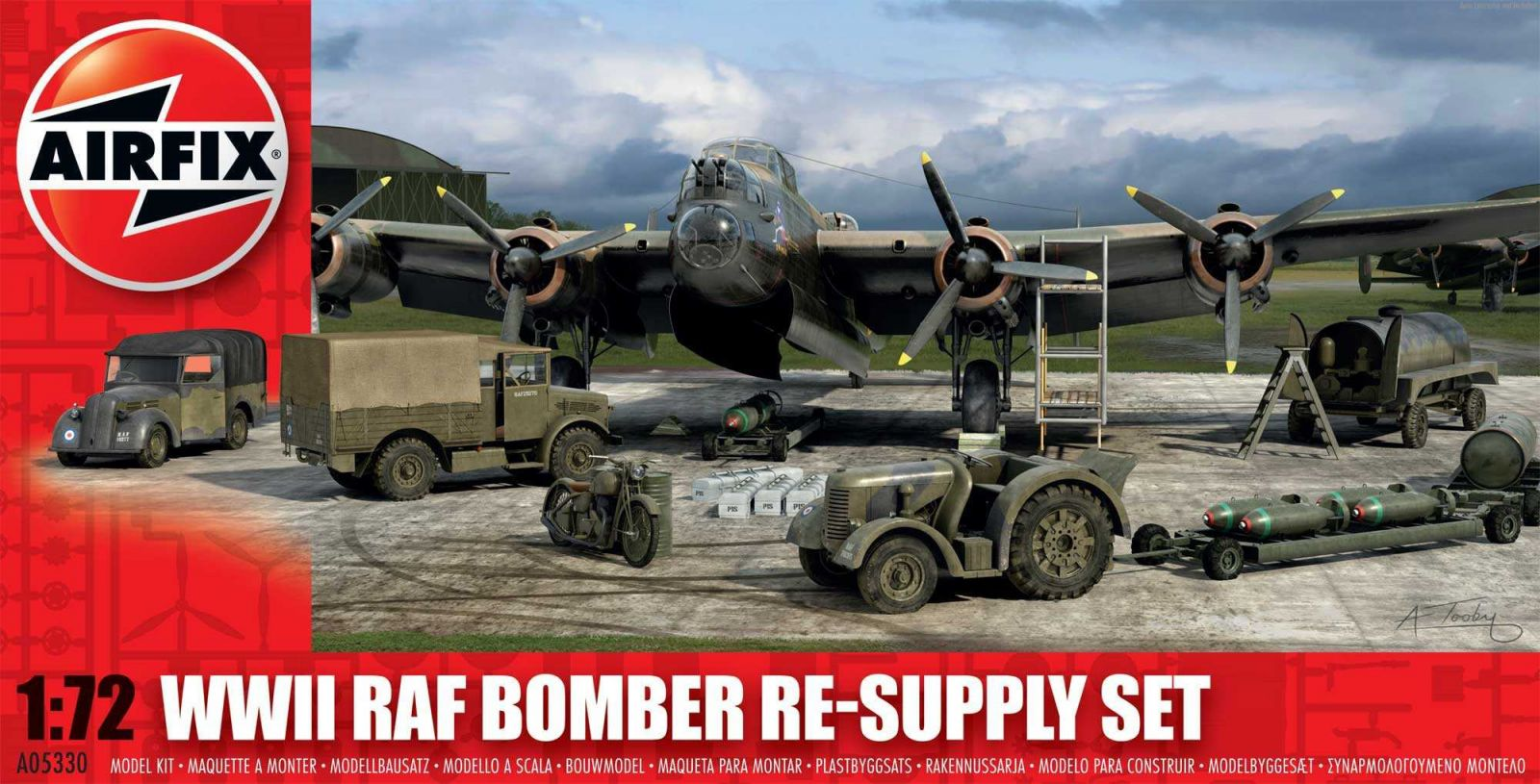 Classic Kit diorama A05330 - Bomber Re-supply Set (1:72) Plastikové modely