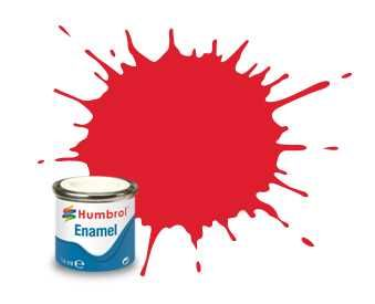 Humbrol barva email AA0206 - No 19 Bright Red - Gloss - 14ml Plastikové modely