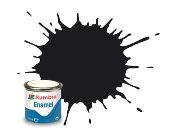 Humbrol barva email AA0237 - No 21 Black - Gloss - 14ml Plastikové modely