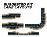 Příslušenství SCALEXTRIC C7015 - Pit Lane (right hand) Plastikové modely