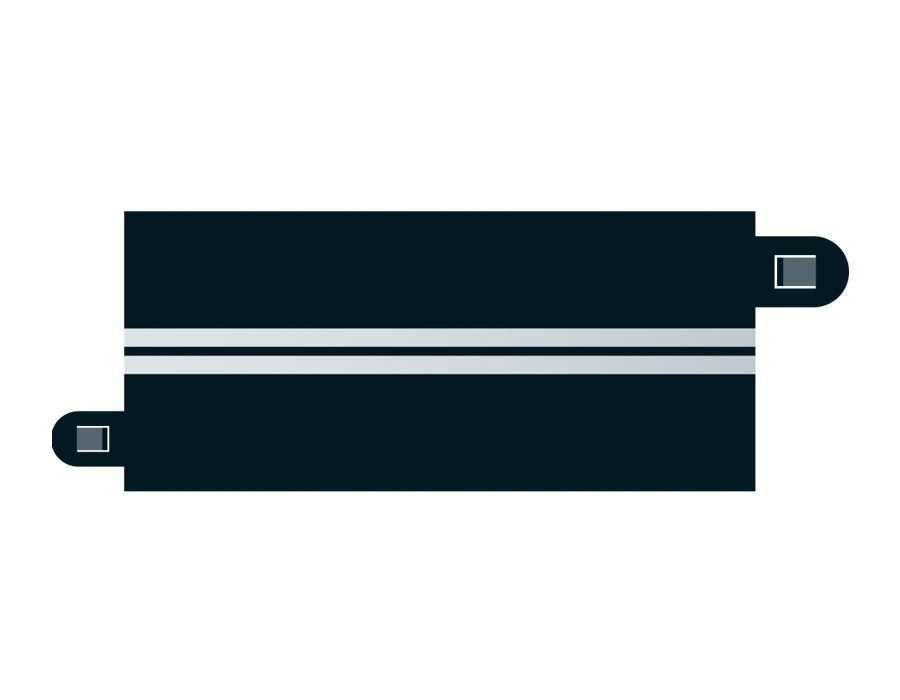 Příslušenství SCALEXTRIC C7016 - Single Lane (half straight x 4) Plastikové modely