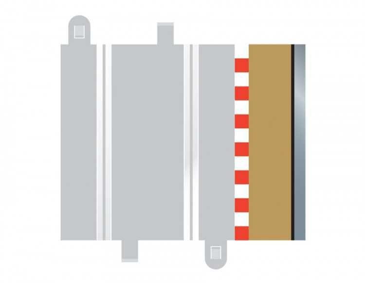 Rozšíření trati SCALEXTRIC C8223 - Half Straight Border/Barrier Plastikové modely