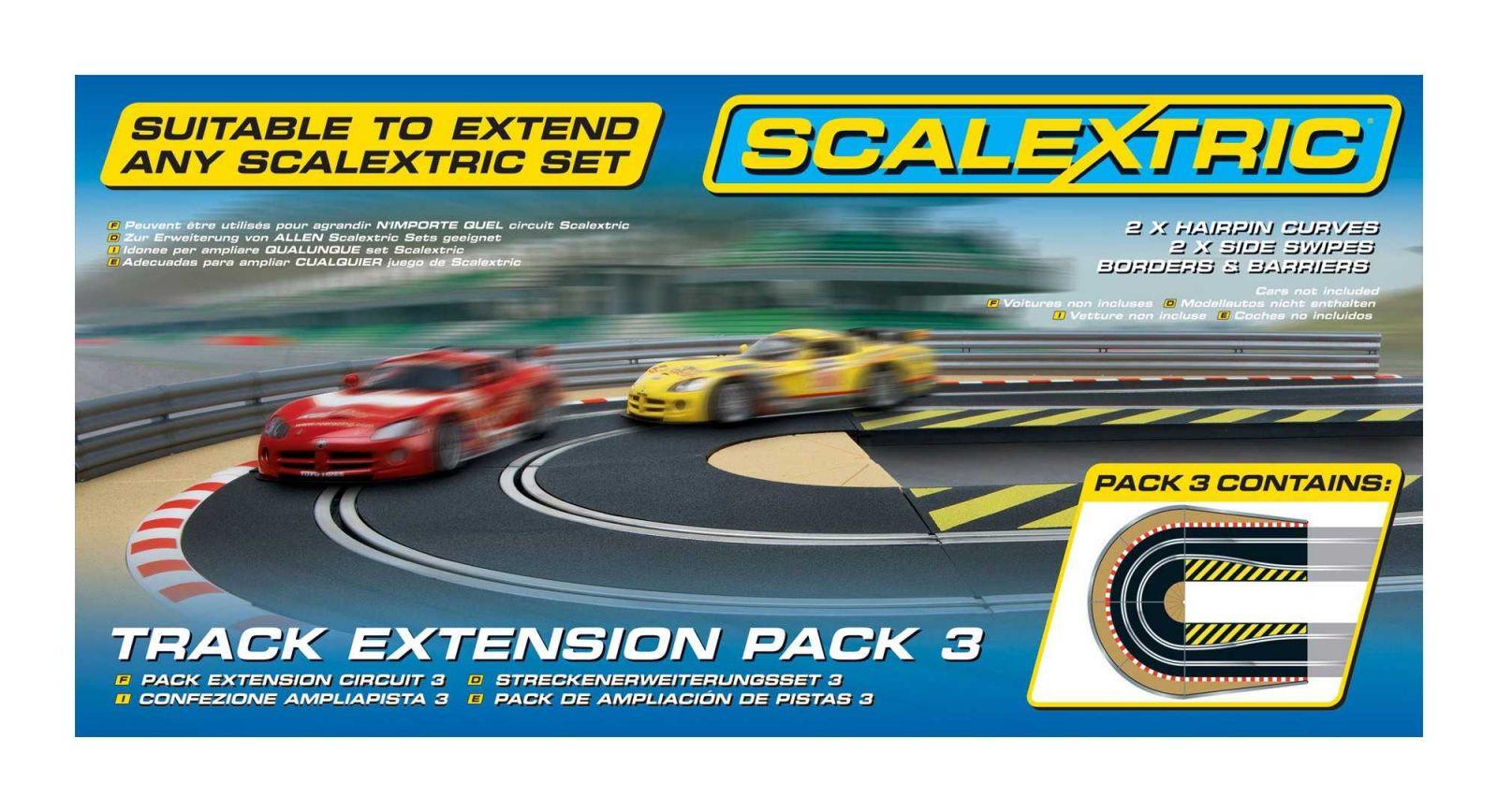 Rozšíření trati SCALEXTRIC C8512 - Track Extension Pack 3 - Hairpin Curve Plastikové modely
