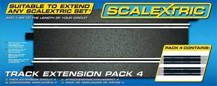 Rozšíření trati SCALEXTRIC C8526 - Track Extension Pack 4 - Straights Plastikové modely
