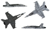 Model Kit letadlo 0016 - F/A-18C/D WILD WEASEL (1:72) Plastikové modely
