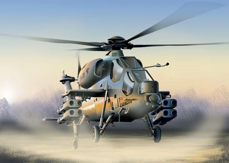 Model Kit vrtulník 0006 - A-129 MANGUSTA (1:72) Plastikové modely