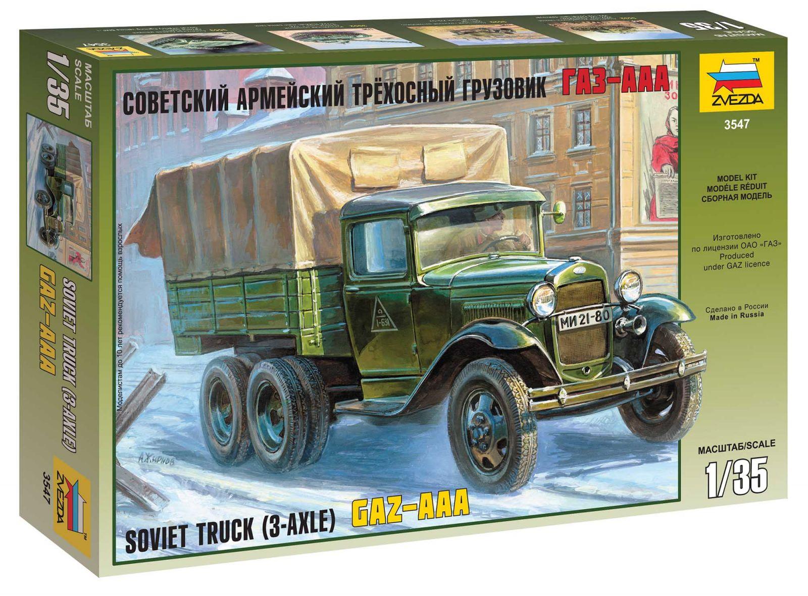 Model Kit military 3547 - GAZ-AAA Soviet Truck (3-axle) (1:35) Plastikové modely
