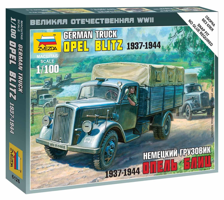 Wargames (WWII) military 6126 - German 3t Truck (1:100) Plastikové modely