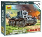 Wargames (WWII) tank 6130 - German Light Tank PZ.KPFW.38 (T) (1:100)