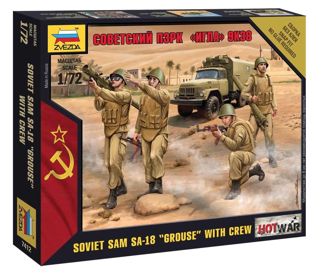 """Wargames (HW) figurky 7412 - Soviet PZRK """"Igla"""" 9K38 (1:72) Plastikové modely"""