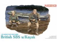Model Kit figurky 3023 - BRITISH SBS w/KAYAK (1:35)
