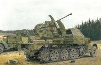 Model Kit military 6553 - SD.KFZ.7 w/3.7 cm FLAK 43 AUF SELBSTFAHRLAFETTE (SMART KIT) (1:35)