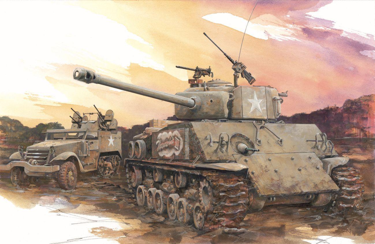 "Model Kit tank 6183 - M4A3E8 ""THUNDERBOLT VII"" (1:35) Plastikové modely"