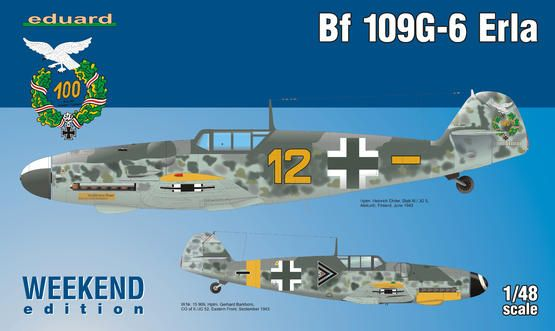 Eduard Bf 109G-6 Erla 1/48 Weekend edition Plastikové modely