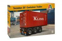 Model Kit návěs 3887 - TECNOKAR 20' CONTAINER TRAILER (1:24)