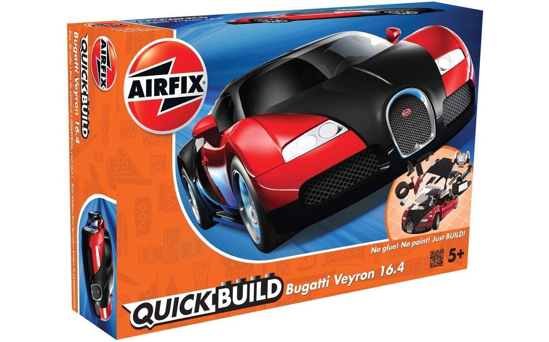 Quick Build auto J6020 - Bugatti Veyron - červená Plastikové modely