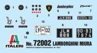 Model Set auto 72002 - LAMBORGHINI MIURA (1:24) Plastikové modely