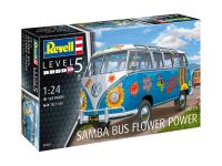 "Plastic ModelKit auto 07050 - VW T1 Samba Bus ""Flower Power"" (1:24)"