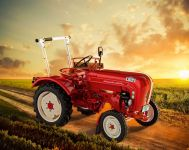 EasyClick traktor 07820 - Porsche Diesel Junior 108 (1:24) Plastikové modely