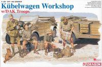 Model Kit military 6338 - Kubelwagen Workshop w/DAK Troops (1:35)
