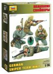 Model Kit figurky 3595 - German Sniper Team (1:35)