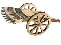 Leonardo edice 00510 - Vícehlavňové dělo - dřevěná stavebnice (1:16)