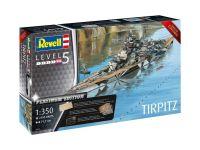 Plastic ModelKit loď Limited Edition 05160 - Tirpitz (Platinum Edition) (1:350)