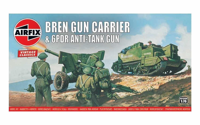 Classic Kit VINTAGE military A01309V - Bren Gun Carrier & 6 pdr Anti-Tank Gun (1:76) Plastikové modely