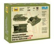 Model Kit tank 6239 - SU-76M Soviet S.P.Gun (1:100) Plastikové modely
