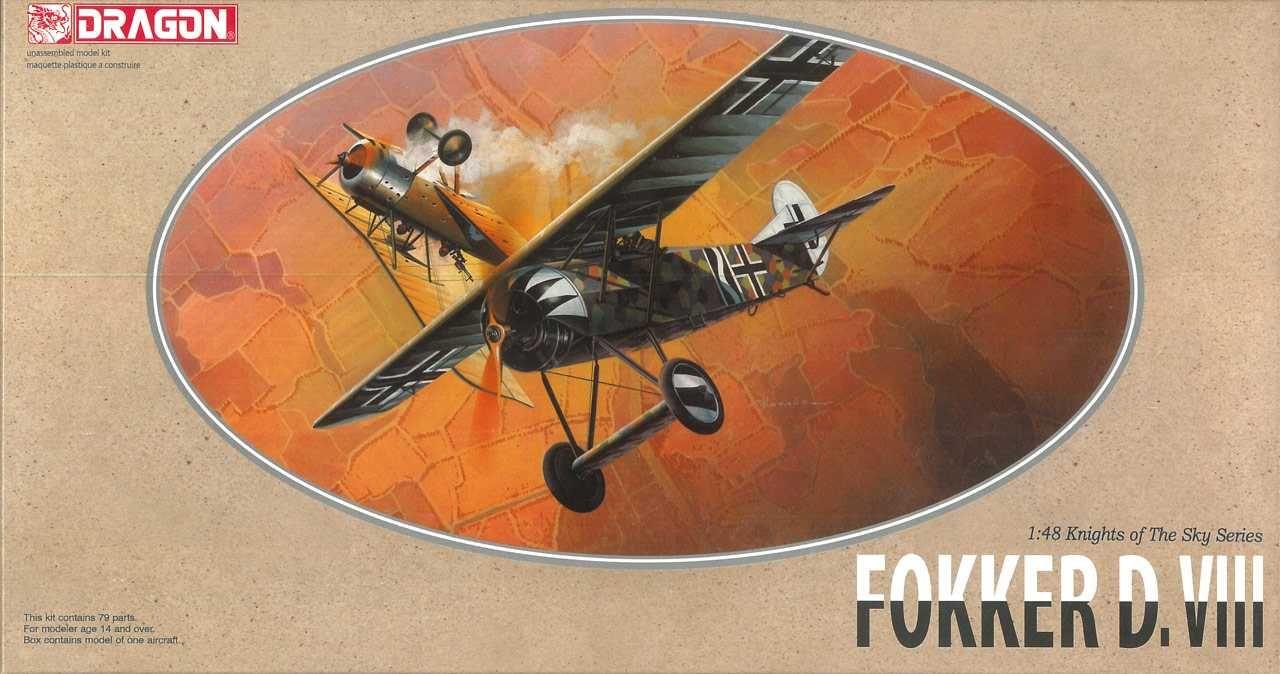 Model Kit letadlo 5907 - FOKKER D.VIII (1:48) Plastikové modely