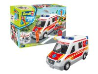 Junior Kit auto 00824 - Ambulance Car (1:20) Plastikové modely