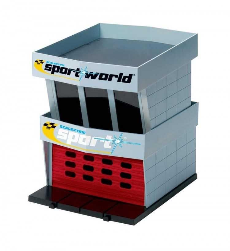 Budova pro autodráhu SCALEXTRIC C8321 - Pit Garage Plastic Plastikové modely