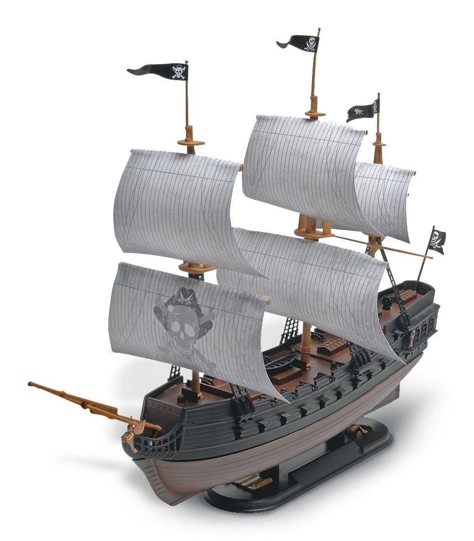 Snap Kit MONOGRAM loď 1971 - Black Diamond Pirate Ship (1:350) Plastikové modely