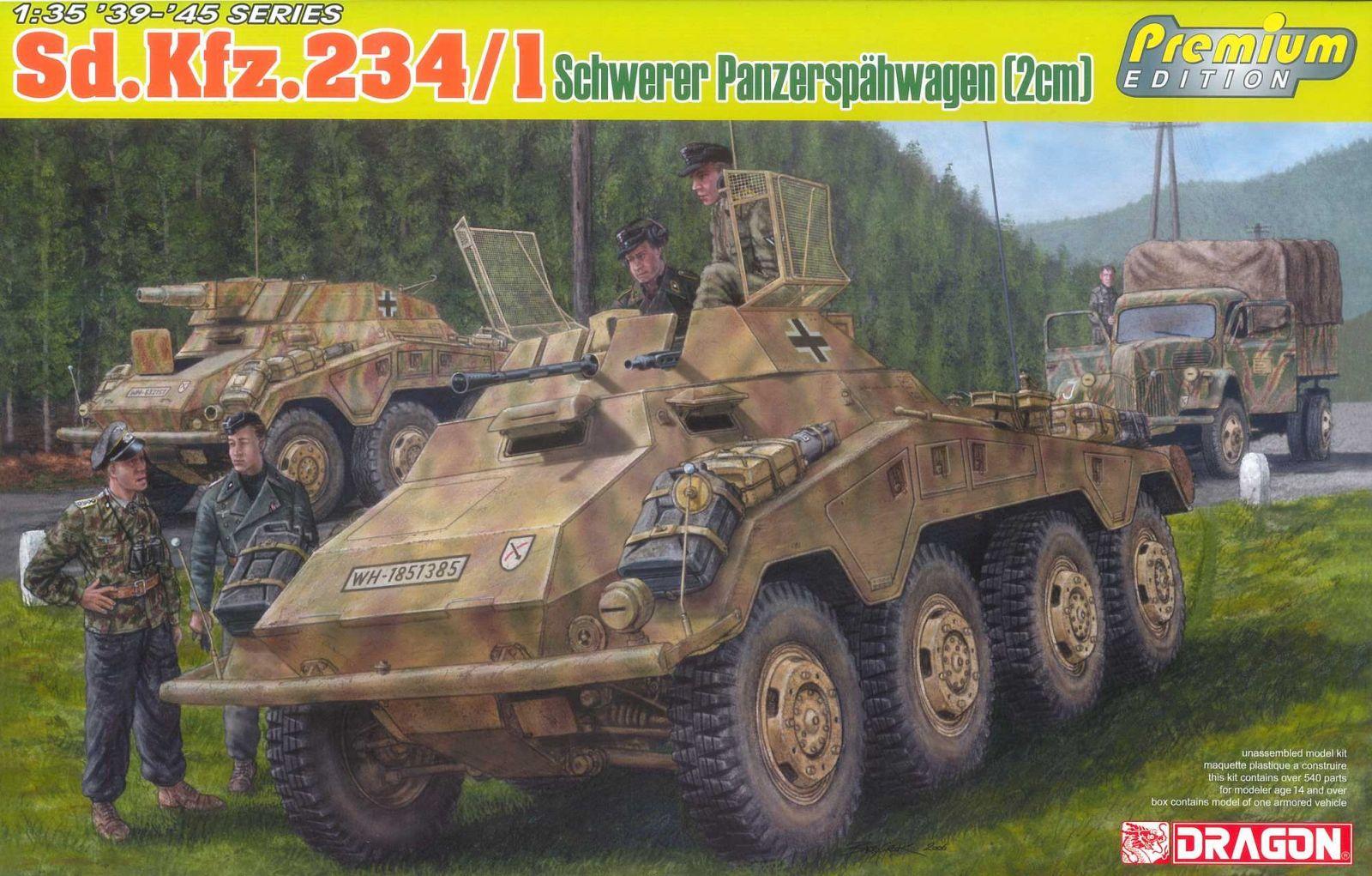 Model Kit military 6879 - Sd.Kfz.234/1 schwerer Panzerspähwagen (2cm) (1:35) Plastikové modely
