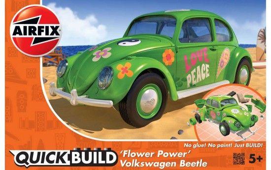 Quick Build auto J6031 - VW Beetle Flower-Power Plastikové modely