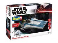 Build & Play SW 06773 - Resistance A-wing Fighter, blue (světelné a zvukové efekty) (1:44)