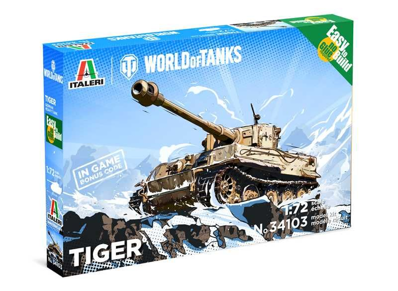 Easy to Build World of Tanks 34103 - Tiger (1:72) Plastikové modely
