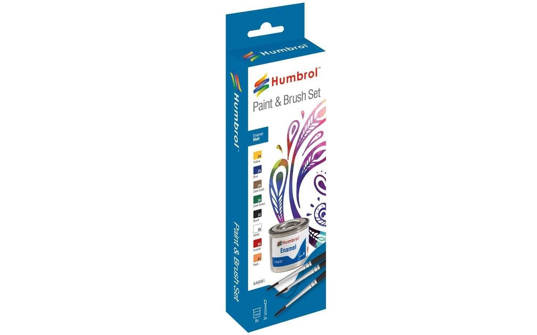 Humbrol sada emailových barev a štětců AA9061 - Matt Plastikové modely