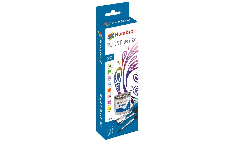 Humbrol sada emailových barev a štětců AA9063 - Creative Plastikové modely