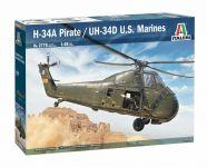 Model Kit vrtulník 2776 - H-34A Pirate /UH-34D U.S. Marines (1:48)