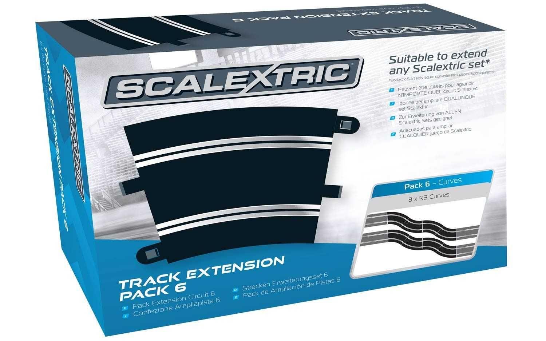 Rozšíření trati SCALEXTRIC C8555 - Track Extension Pack 6 - 8 X R3 Curves Plastikové modely