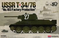 "Model Kit tank 13505 - USSR T-34/76 ""No.183 Factory Production"" (1:35)"